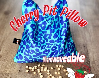 Cherry Pit Pillow, Leopard Print Heat Pack, Cooling Pad, Neck Warmer, Gift for Mom, Microwaveable Heating Pad, Back Pain Relief, Therapeutic