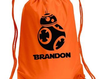 Disney Backpack,BB8,Star Wars Inspired Bag,drawstring bag,Disney Bag,BB8 Day Bag,Disney bag,Mickey Drawstring bag
