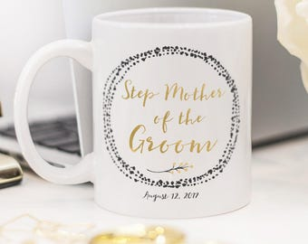 Step Mother of the Groom mug, customized Step Mother of the Groom gift