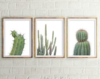 Cactus Print Set, Cactus Prints, Scandinavian Print, Cactus Print, Wall Art, Cactus, Photography Prints, Prints, Cactus Art, Green Print