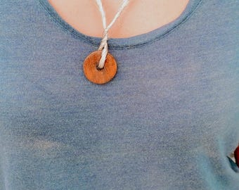 Handcrafted wood Necklace