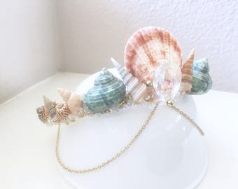 Seashell crown, mermaid crown, shell crown