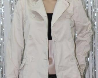 Vintage GAP 100% Cotton Light Tan Army Style Jacket.(XS)