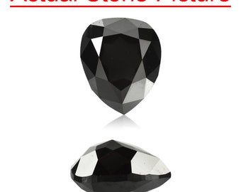0.57 Cts of 5.48x4.58x2.86 mm GIA Certified AAA Pear Modified Brilliant ( 1 pc ) Loose Un-Treated Fancy Black Diamond