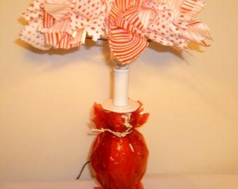 Christmas Holiday Lamp Shade with Lamp Base
