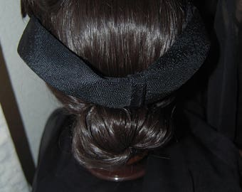 Pretty Vintage Black Gripper Clutch Hat Headband