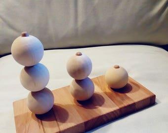Abacus 3, 2, 1 beads Montessori