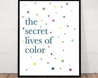 Color Quote Print Dots Decor Playfull Scandinavian