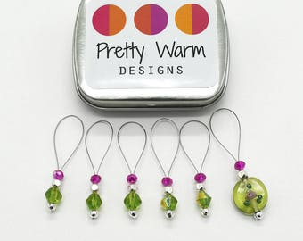 Stitch Markers for Knitting - Snag Free Stitch Markers - Beaded Stitch Marker - Stitch Marker - Knitting Tools - Gift for Knitter - Knitting