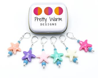 Starfish Locking Stitch Markers - Stitch Markers Crochet - Progress Keepers - Crochet Markers - Gifts for Mother - Gift for Crocheters