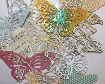 Butterfly Die Cuts//Collage Butterflies//Art Journal Butterflies