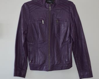 SALE!  Purple leatherette Castle 80' Small coat