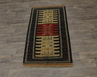 Original Rare Hand Woven Tribal Sumak Wool Persian Area Rug Oriental Carpet 3X6