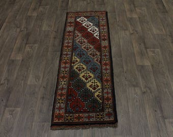 Fantastic Runner Original Wool Ghoochan Persian Area Rug Oriental Carpet 2ʹ2X6ʹ6