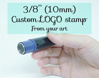 Small custom LOGO stamp, tiny self-inking stamp, business logo, custom branding stamp, loyalty stamp, frequent shopper, reward stamp, 3/8""