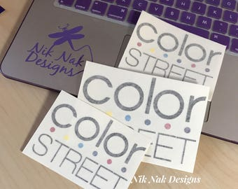 Color Street Decal | Color Street Logo