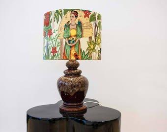 Large Frida Kahlo Lamp 'Fridas Garden' West German Base