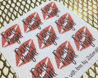 Date Night Functional Planner Stickers