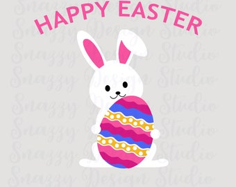 Happy Easter Svg ~ Easter Bunny ~ Easter Egg ~ Cutting File ~ SVG,DXF,EPS  ~ Cricut ~ Silhouette