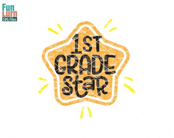 First Grade Star svg, Pre K tribe, First grade , School, back to school, Tshirt, svg png dxf eps use with Silhouette, Cricut Air etc
