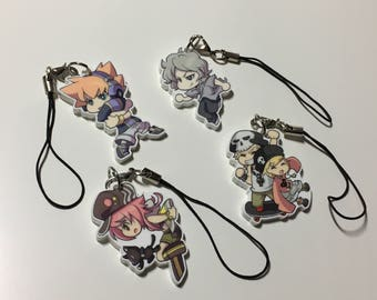 "The World Ends With You 1"" Charms"