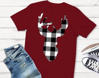 Buffalo Plaid svg, Deer SVG, Plaid svg, Deer svg, buck svg, antler svg, SVG, antler, cutter, dxf files, svgs, plaid, dxf, eps, shirt svg