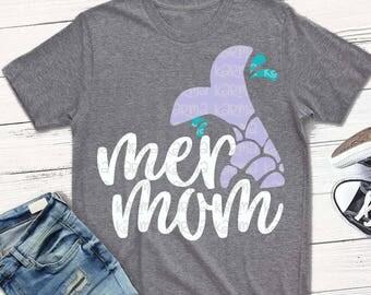 MERMAID svg, Mermaid mom, mer mom svg, mermaid shirt, svg, dxf, eps, mer mom svg, birthday svg, mermaid dad, mermaid and sister in shop