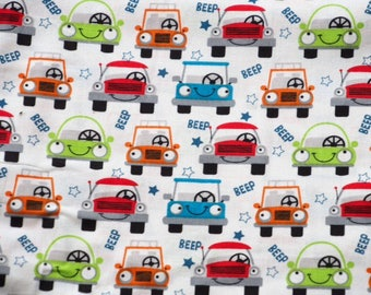 Beep - multicolored cars - white background