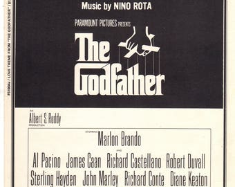 Love Theme from the Movie THE GODFATHER Sheet Music 1972