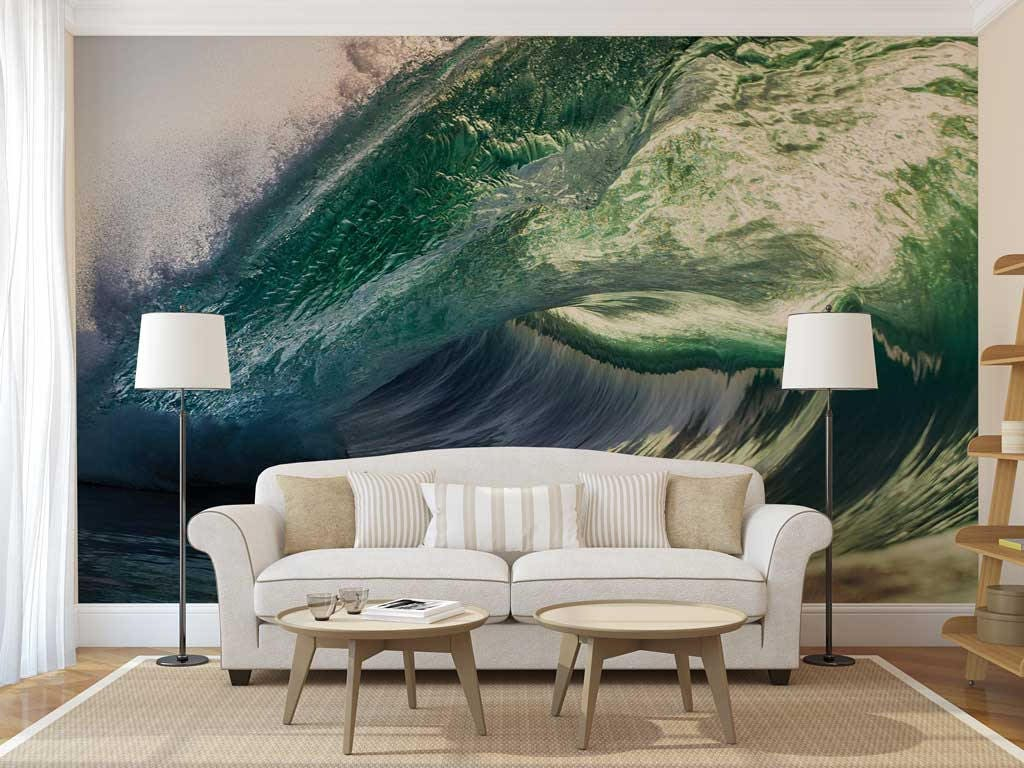 Peel and stick wall decor wall mural tropical wave wallpaper peel and stick wall decor wall mural tropical wave wallpaper wallpaper blue amipublicfo Choice Image