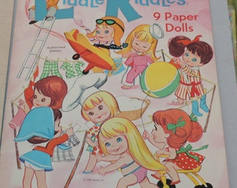 Vintage Liddle Kiddles Paper Doll and Accessory Lot Tons Of Extras 1967  *******1960's***************