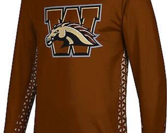 ProSphere Men's Western Michigan University Geometric Long Sleeve Tee (WMU)