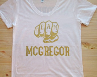 Team McGregor woman's tee/ Conor McGregor tank