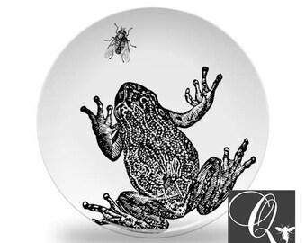 Frog and Fly Platemelamine platesdinnerware setsfrog dinnerwarefrog dishes  sc 1 st  Etsy & Frog cabin decor | Etsy