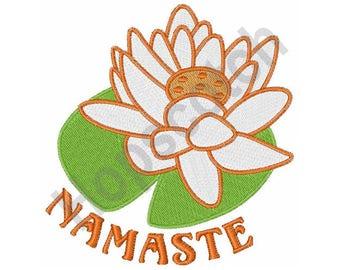 Namaste Lotus - Machine Embroidery Design