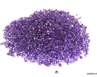 100 piece 3mm purple amethyst round faceted wholesale gemstone - natural amethyst faceted round loose gemstone - semi precious gemstone