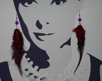 """My thing feather"" earrings"