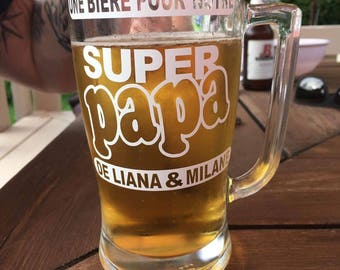 Sticker for Cup.beer glass. beer for a great Dad. custom