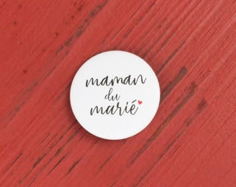 Wedding mother of the groom badge