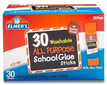 Elmer's All Purpose School Glue Sticks, Washable, 30 Pack, 0.24-ounce sticks .