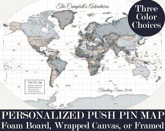 Customized Pinboard Map 30x40 Push Pin Map World Map Travel Customized Pinboard Anniversary Gift for Niece