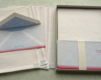 Vintage Airmail Stationery Set Envelopes Onionskin Paper Par Avion Correo Aereo