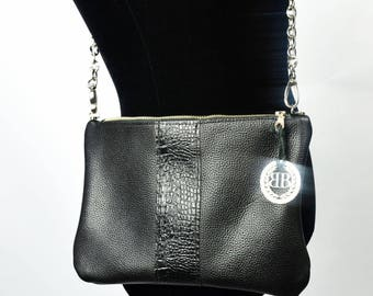 Black clutch bag, Black Leather Clutch, leather crossbody