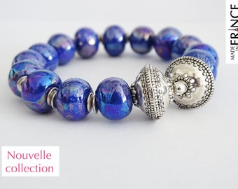 Electric blue Olympus bracelet