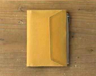 fourruof x Traveler's Factory Collaboration Zipper pocket Case Passport size Mustard TRAVELER'S COMPANY Made in Japan Traveler's Notebook