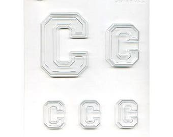 """Collegiate Letter """"C"""" Chocolate Candy Mold"""
