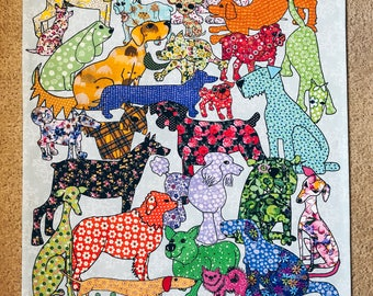 Dog Tea towel - Dog Dishcloth - Dog Kitchen towel and Dog Dish towel - It's a Dog design on Kitchen Textiles, home ware for dog lovers
