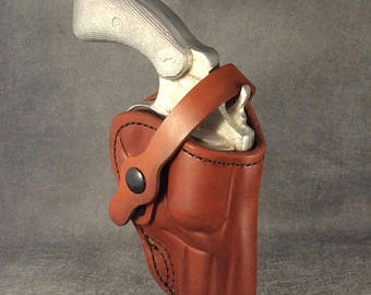 """Ruger SP101 2.25"""" Two Position Leather Holster"""