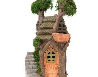 Fairy Garden House Fairy Garden Tree House Double Tree Fairy House Fairy  House