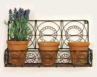 Metal Wall Planter metal wall planter | etsy